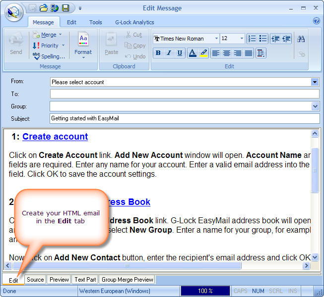 how to send multipart alternative email